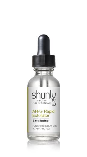 AHA + Rapid Exfoliator Fusion Formula from Shunly Skincare